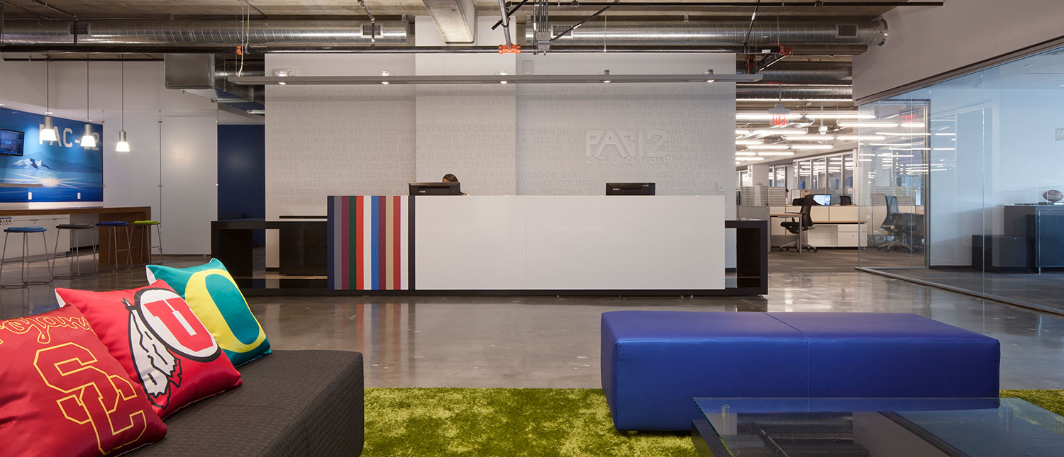 Pac-12 Networks Reception Area by Unisource Solutions